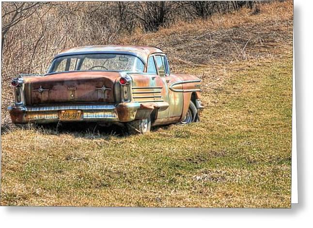 Rusted Cars Greeting Cards - Little Star Greeting Card by Lisa Hurylovich