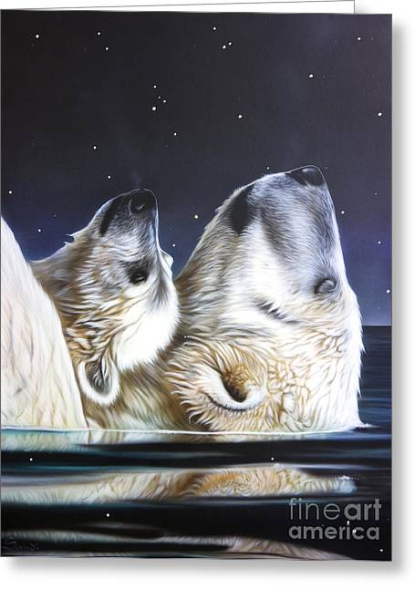 Wolf Song Studio Greeting Cards - Little Star Greeting Card by Sandi Baker