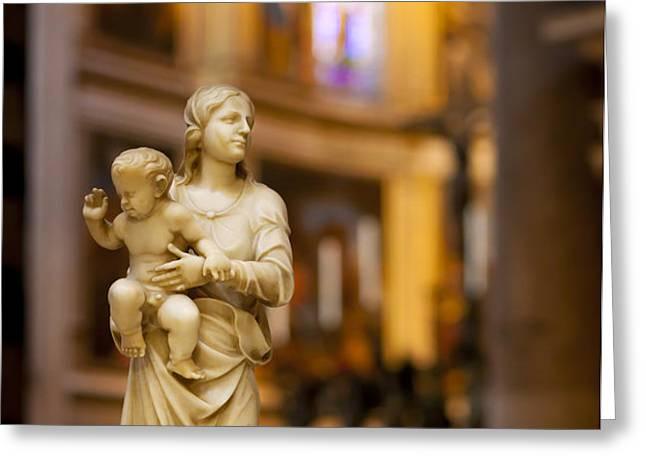 Little Statue Greeting Card by Brian Jannsen