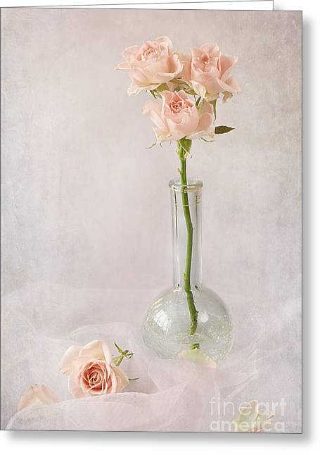 Glass Vase Greeting Cards - Little Sweethearts Greeting Card by Jacky Parker