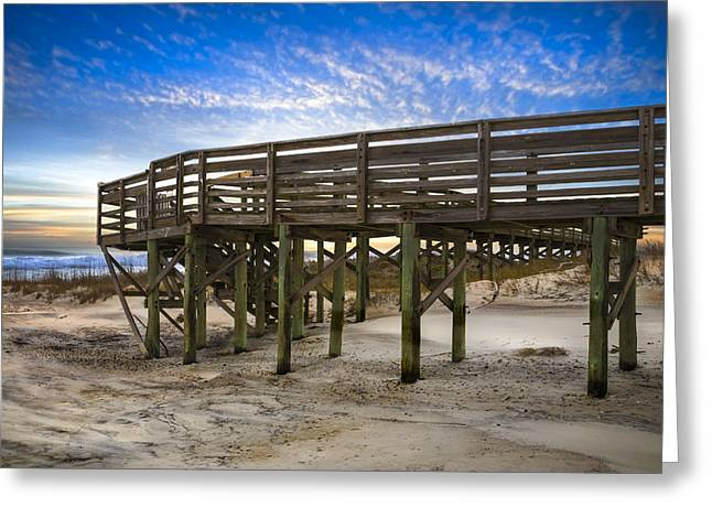 Sanddunes Greeting Cards - Little Talbot Island Greeting Card by Debra and Dave Vanderlaan