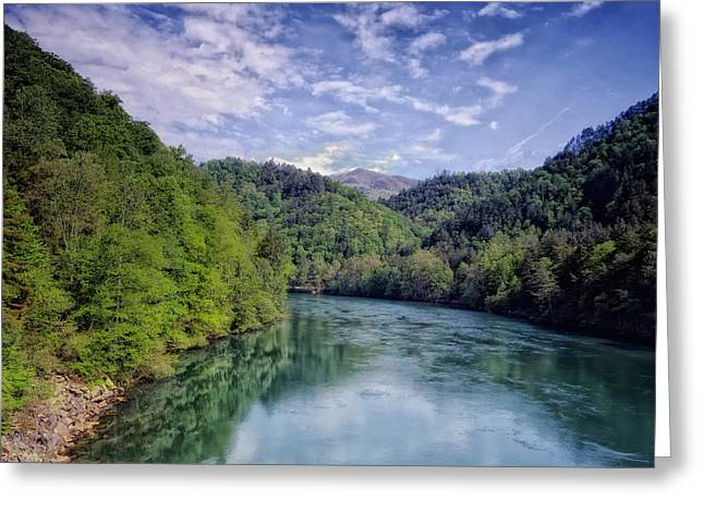 Tennessee River Greeting Cards - Little Tennessee River Greeting Card by Mountain Dreams