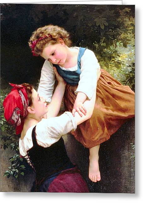 Williams Sisters Greeting Cards - Little Thieves Details Greeting Card by William Bouguereau