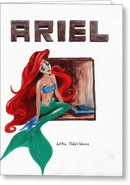 Tori Amos Greeting Cards - Little Tidal Waves Greeting Card by Leia Sopicki