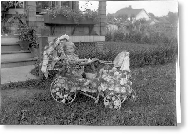 Peddle Car Greeting Cards - Little Tites Buggy Greeting Card by William Haggart