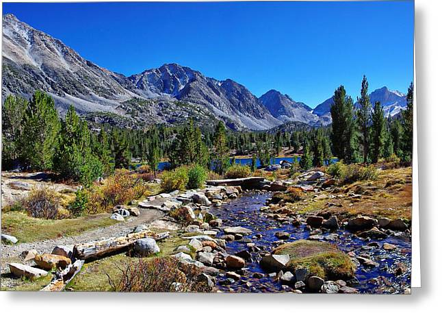 Little Lakes Valley Greeting Cards - Little Valley Trail John Muir Wilderness Greeting Card by Scott McGuire