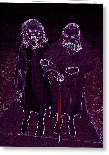 Samhaim Greeting Cards - Little Vampires Greeting Card by First Star Art