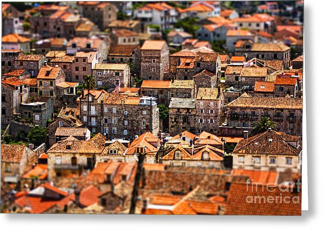Frame House Greeting Cards - Little Village Greeting Card by Andrew Paranavitana