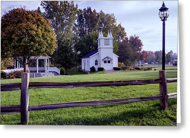 Immanuel Greeting Cards - Little Village Chapel of the Immanuel Lutheran Church Greeting Card by Paul Cannon