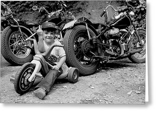 Biker Greeting Cards - Little Walt Greeting Card by Doug Barber