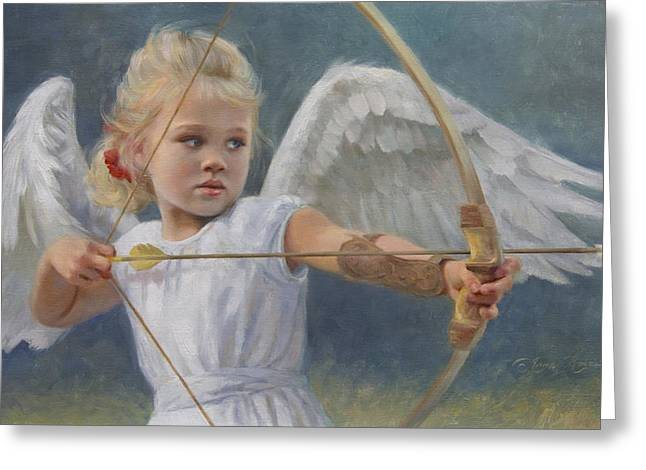 Bow Greeting Cards - Little Warrior Greeting Card by Anna Bain