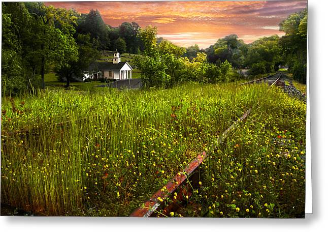 Tn Greeting Cards - Little White Church Greeting Card by Debra and Dave Vanderlaan