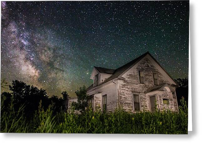 Light Pollution Greeting Cards - Little White House  Greeting Card by Aaron J Groen