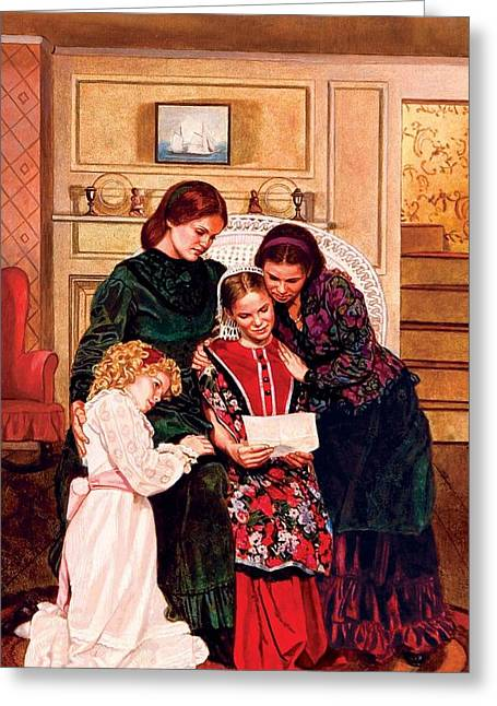 Alcott Greeting Cards - Little Women Greeting Card by Patrick Whelan