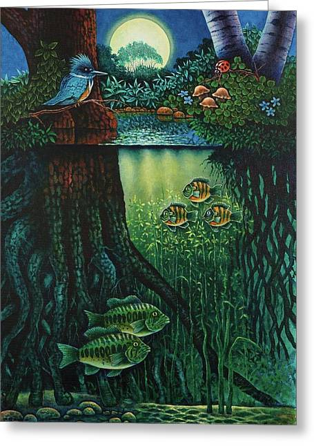 Little World Chapter Kingfisher Greeting Card by Michael Frank