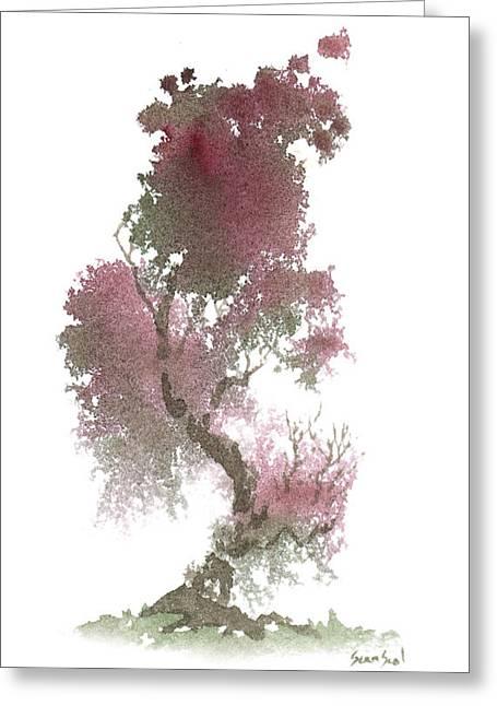 Little Zen Tree 1117 Greeting Card by Sean Seal