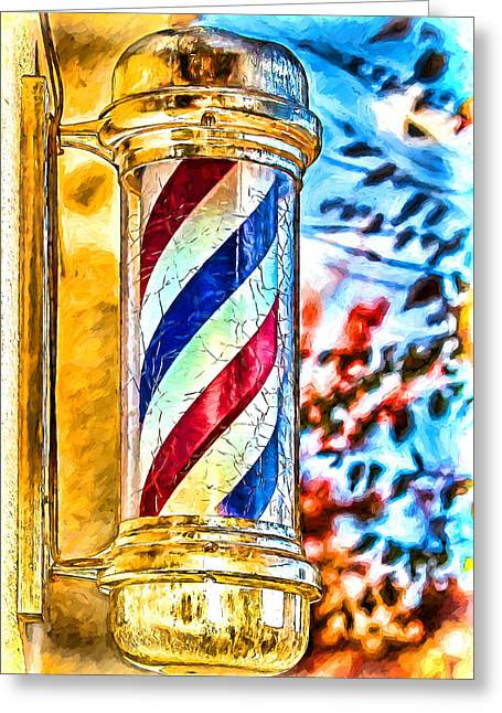 Hippie Sculpture Greeting Cards - Littlest Barber Pole Greeting Card by John Haldane