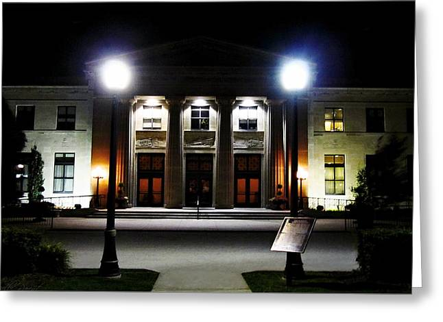 Banquet Digital Art Greeting Cards - LIUNA Station Former  Canadian National Railway Station Greeting Card by Danielle  Parent