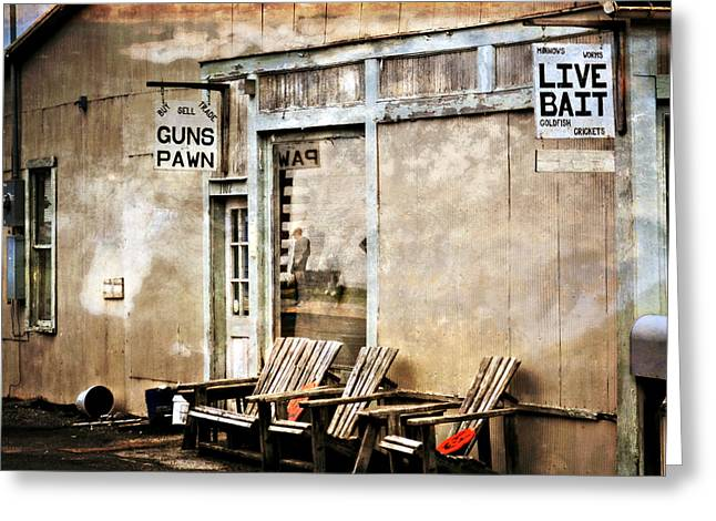 Live Bait Greeting Card by Marty Koch