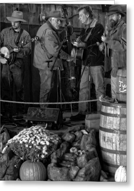 Gatlinburg Tennessee Greeting Cards - Live Bluegrass Music In Tennessee Greeting Card by Dan Sproul