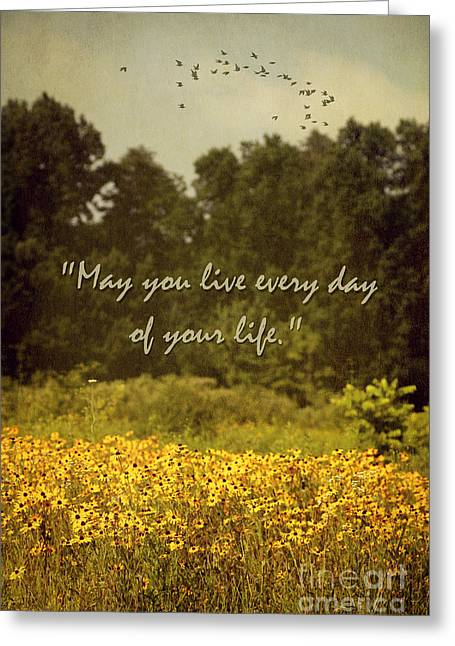 Quite Greeting Cards - Live Every Day Greeting Card by Darren Fisher
