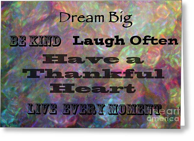Empower Greeting Cards - Live Every Moment Greeting Card by Kerri Farley