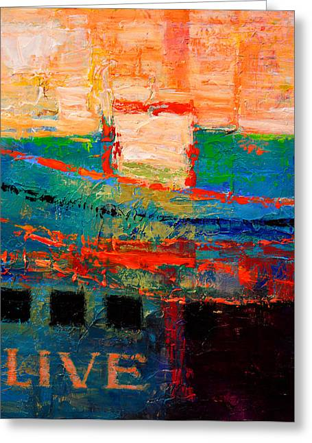 Print On Canvas Greeting Cards - Live Greeting Card by Kanayo Ede
