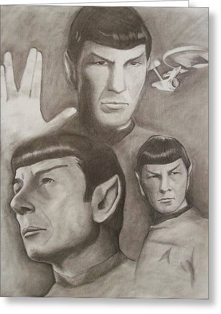 Spock Drawings Greeting Cards - Live Long And Prosper Greeting Card by Amber Stanford