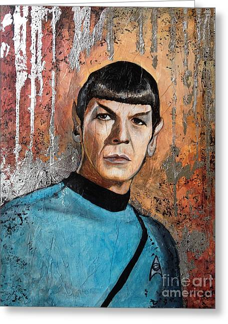 Trekkie Greeting Cards - Live Long and Prosper Greeting Card by Dori Hartley