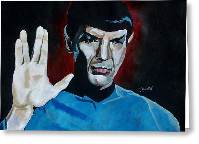 Roddenberry Paintings Greeting Cards - Live Long And Prosper Greeting Card by Jeremy Moore