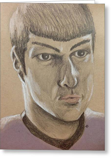 Spock Pastels Greeting Cards - Live long and prosper Greeting Card by Tee Thompson