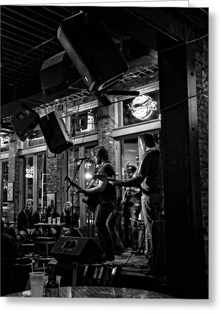 Country Music Town Greeting Cards - Live Music And Beer In Nashville Tennessee Greeting Card by Dan Sproul