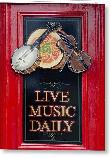 Irish Folk Music Greeting Cards - Live Music Daily Greeting Card by Bill Cannon