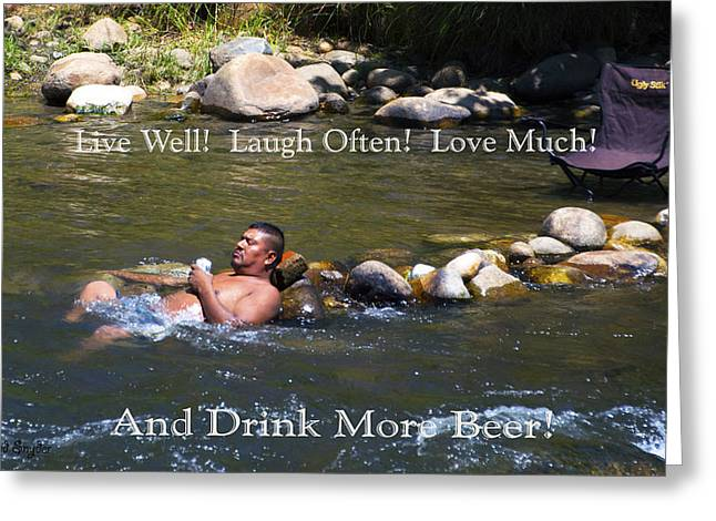 Live Well Laugh Often Greeting Card by Floyd Snyder
