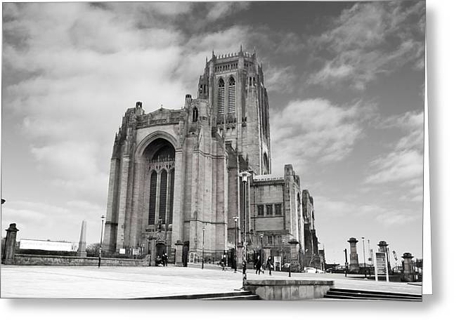 Merseyside Greeting Cards - Liverpool Anglican Cathedral Greeting Card by David French