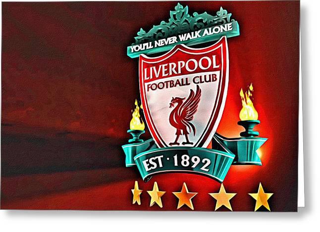 Liverpool Football Club Poster Greeting Card by Florian Rodarte