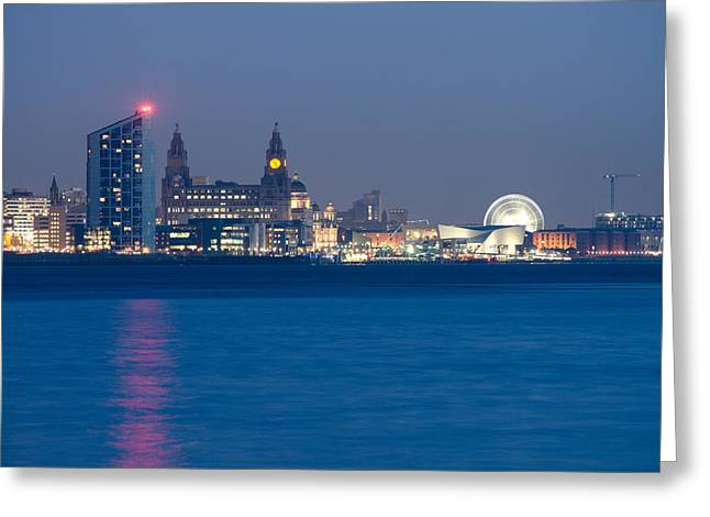 Lighthouse Greeting Cards - Liverpool Waterfront Greeting Card by Karen Lawrence  SMPhotography