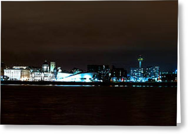 Historic Statue Greeting Cards - Liverpool Waterfront Greeting Card by Karen Lawrence  SMPhotography
