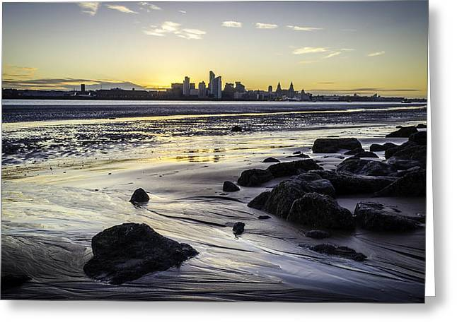 Cityscape Pyrography Greeting Cards - Liverpool2 Greeting Card by Tomasz Ruban