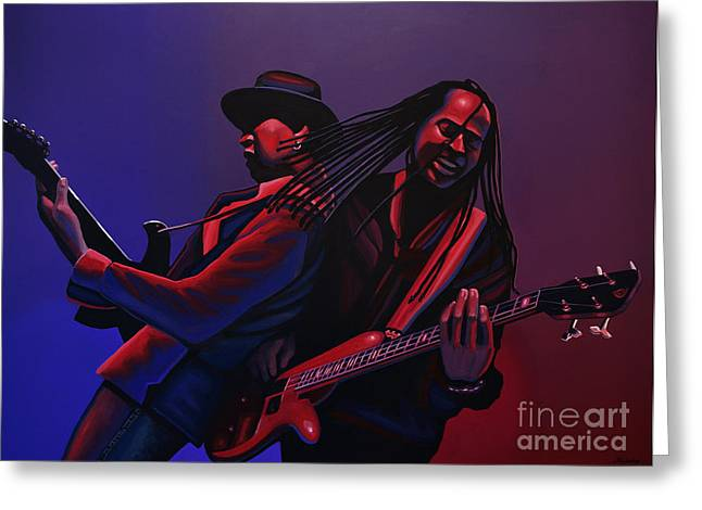 Hip Hop Paintings Greeting Cards - Living Colour Greeting Card by Paul  Meijering