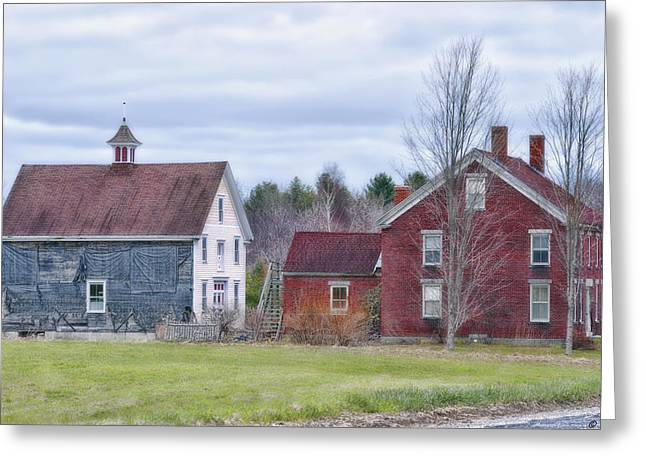 Old Maine Barns Greeting Cards - Living Country Greeting Card by Richard Bean