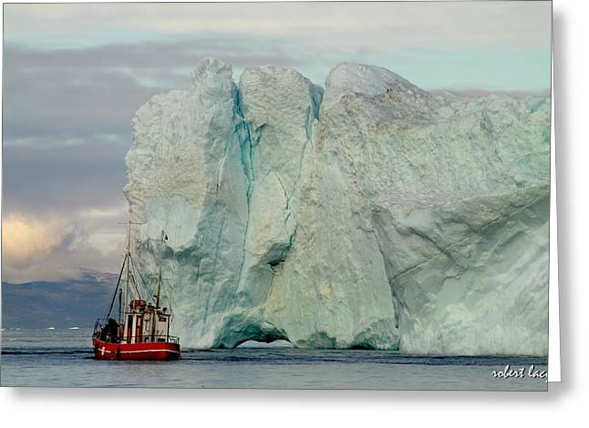 Greenland Greeting Cards - Living Dangerously Greeting Card by Robert Lacy