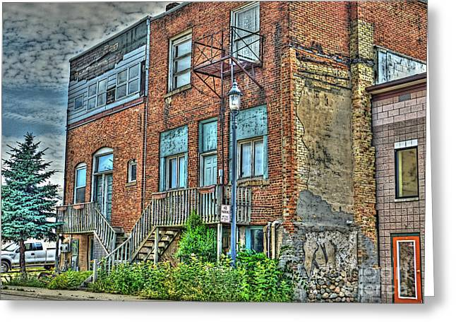 Living Downtown Up North Greeting Card by MJ Olsen