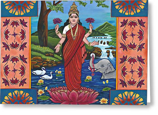 Hindu Goddess Greeting Cards - Living In A Call And Response Universe Greeting Card by Jennifer Kline