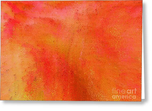 Tangerine Greeting Cards - Living in a Tangerine World Greeting Card by Ann Johndro-Collins