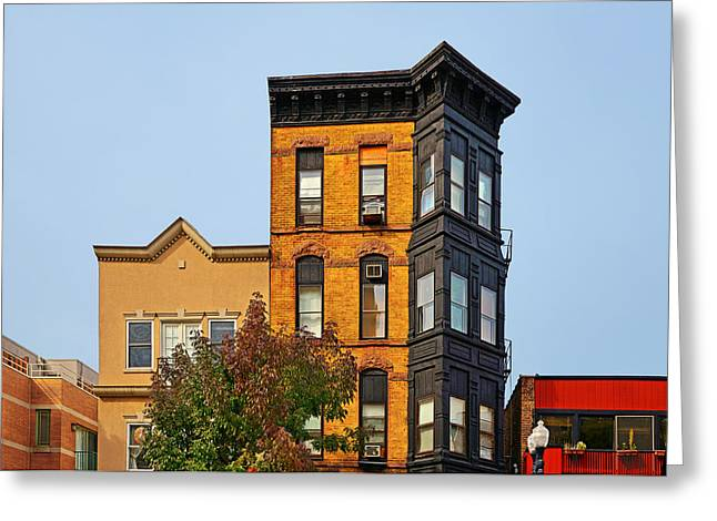 Townhouses Greeting Cards - Living in Chicago Lincoln Park Greeting Card by Christine Till