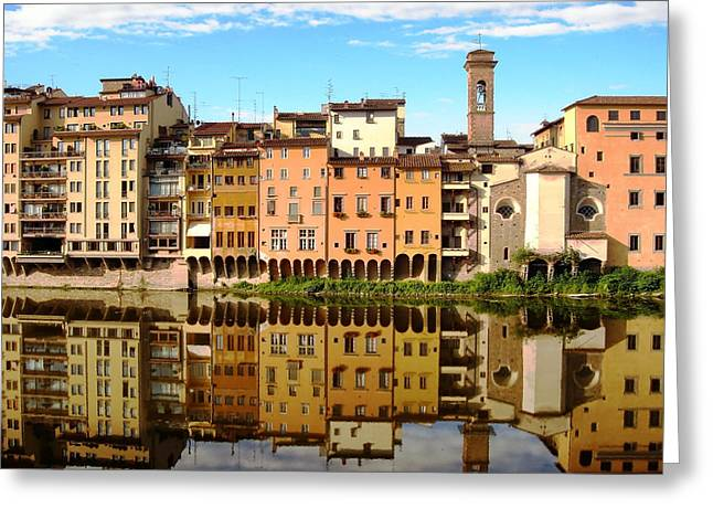 Florence Greeting Cards - Living in Florence Greeting Card by Mountain Dreams