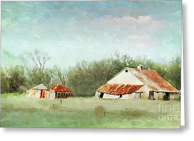 Tin Roof Greeting Cards - Living in the Past Greeting Card by Betty LaRue