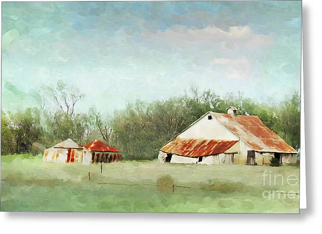 Tin Roof Digital Art Greeting Cards - Living in the Past Greeting Card by Betty LaRue