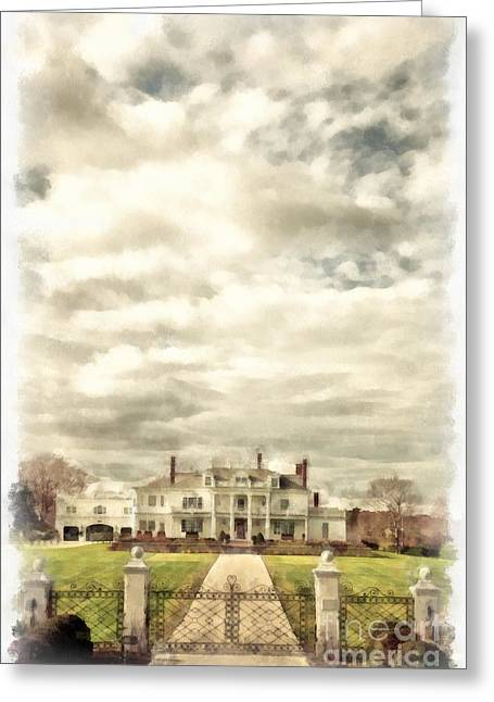 Mansion Greeting Cards - Living Large in Rye New Hampshire Greeting Card by Edward Fielding